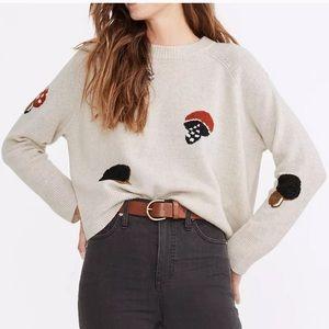MADEWELL Mushroom Intarsia Sweater / HEATHER FOG